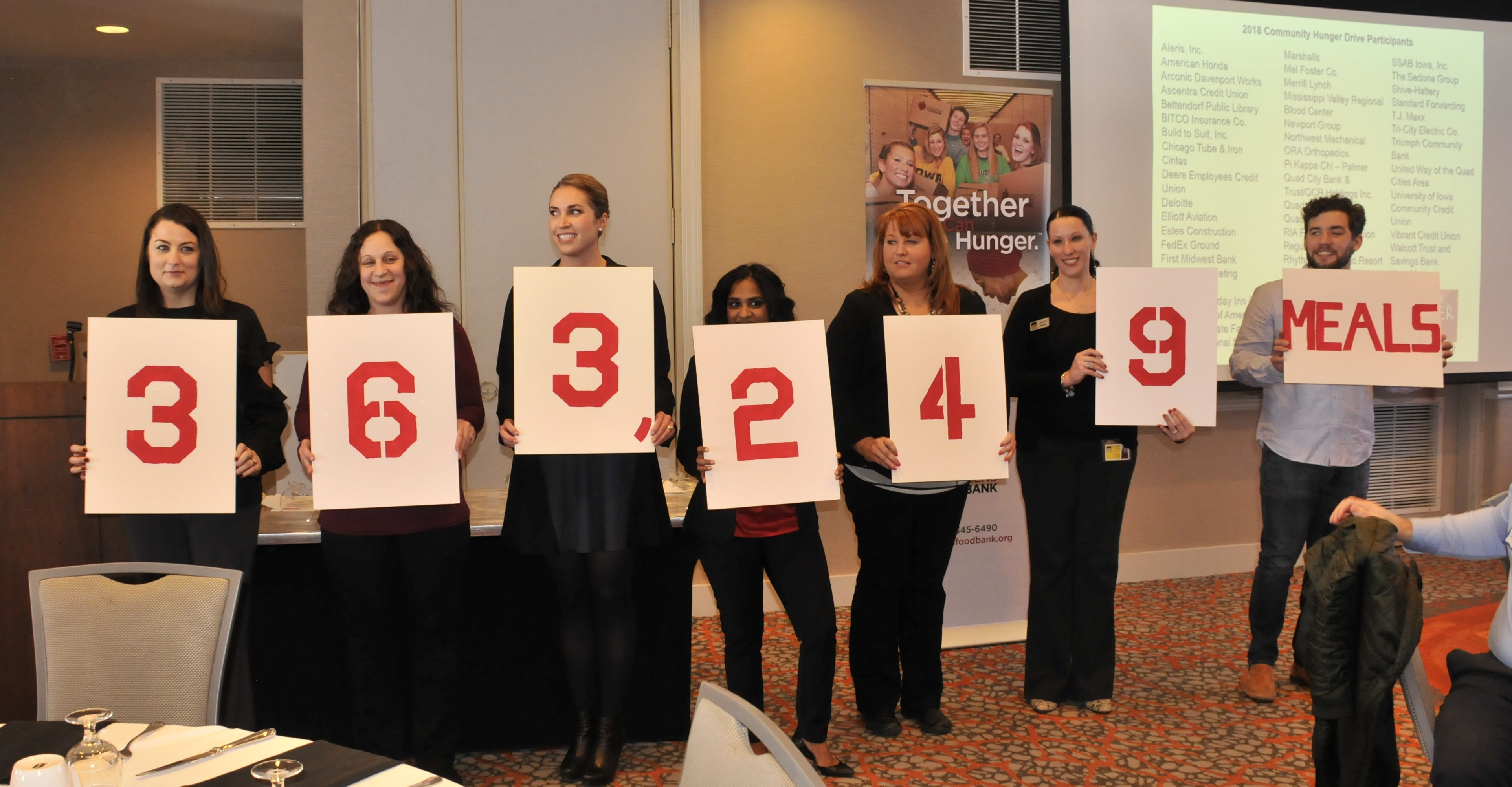 The Community Hunger Drive raises 363,249 meals for River Bend Foodbank